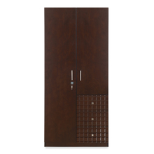 Rivera 2 Door Wardrobe - @home by Nilkamal, Dark Walnut