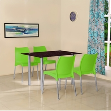 Napoli 4 Seater Dining Set - @home by Nilkamal, Green