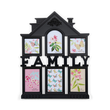 6 Wall Family House 42 cm x 50 cm x 2 cm Photo Frame - @home by Nilkamal, Black