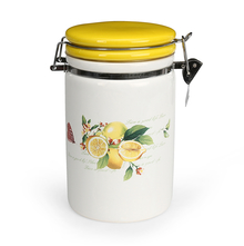 Large Ceramic Jar, Yellow
