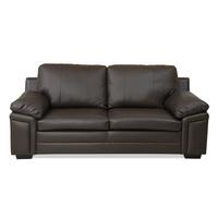 Kristen 3 Seater Sofa - @home by Nilkamal, Choco Brown