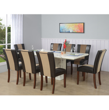 Desire+ Jenn 8 Seater Dining Kit, White and Walnut