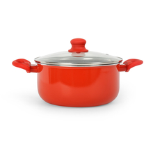 Bergner Bellini Casserole with Lid, Red