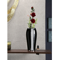 Crystal Open Mouth Vase, Black