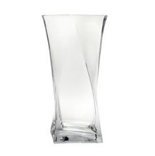 Twister Short Vase - @home by Nilkamal, Clear