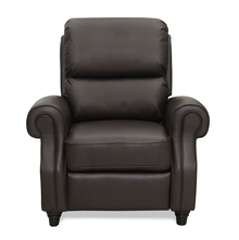 Paige 1 Seater Sofa with Manual Recliner - @home by Nilkamal, Chocolate