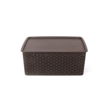 Ratan 14.5 Litre Storage Box with Lid, Brown