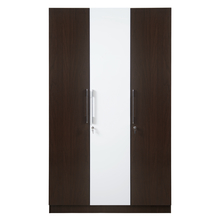 Guardian 3 Door Wardrobe - @home by Nilkamal, Walnut & White
