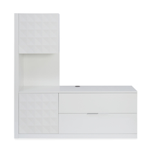 Theia High Gloss Low Height Wall Unit - @home by Nilkamal, White