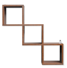 Jazz American Wall Shelf - @home by Nilkamal, Walnut
