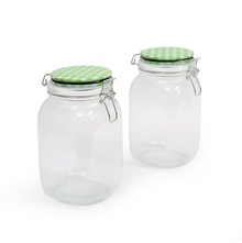 Fido 1500 ml Jar with Metal Clip Set of 2 - @home by Nilkamal