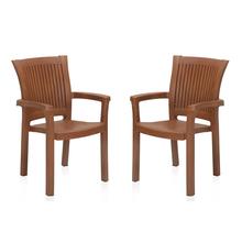 Nilkamal Platinum Chair - Set of 2, Mango Wood