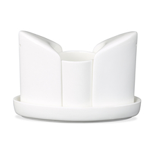 Salt & Pepper Set With Toothpick Holder in Tray, White
