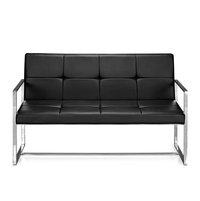 Nilkamal Inspira 2 Seater Sofa With Handle, Black