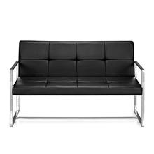 Nilkamal Inspira 2 Seater Sofa With Handle, Black