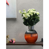 Fat & Stout Flower Vase, Orange