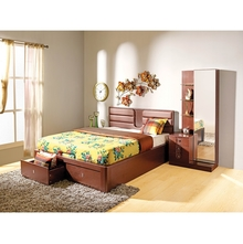 Triumph King Bed Liftable Storage - @home By Nilkamal,  dark brown