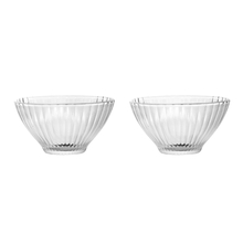Bistro Glass Set of 2 Snack Bowl, Transparent