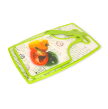Chopping Board 3 Pieces Set with Knife - @home by Nilkamal, Green