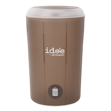 Idee 5 Litre Swing Top Round Dustbin - @home by Nilkamal, Brown