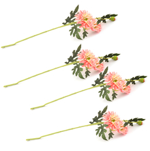 Gerbera Flower Stick Set of 4 - @home by Nilkamal, Pink