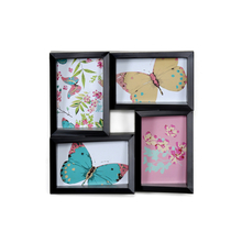 Abstract Table 28 cm x 28 cm x 5 cm Photo Frame - @home by Nilkamal, Black