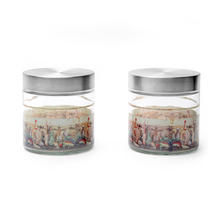 Olio Round Glass Jar 850 ml with Metal Lid Set of 2 - @home by Nilkamal
