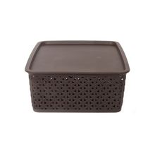 Ratan 4 Litre Storage Box with Lid, Brown