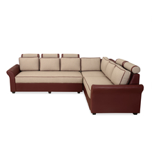 Nilkamal Majesty Lounger Sofa, Burgundy & Beige