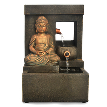 Spring Buddha Water Fountain - @home by Nilkamal, Brown