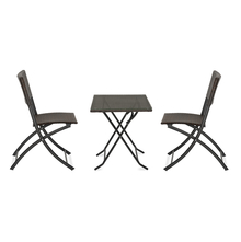 Jack Garden Table & Chair Set - @home by Nilkamal, Mocha Brown