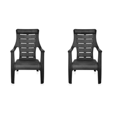 Nilkamal Sunday Garden Chair Set of 2, Black