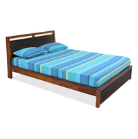 Tiara King Bed - @home by Nilkamal, Honey Brown