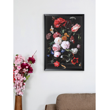 Flower Bunch 50X70CM Picture Frame, Red