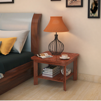 Jade Side Table - @home by Nilkamal, Walnut
