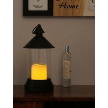 Flameless LED Candle with Lantern, Black