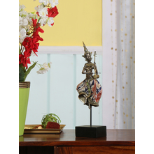 Musical Buddha Fiddle Showpiece - @home by Nilkamal, Indigo