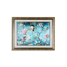 Birds on Branches Double Border Painting - @home by Nilkamal, Multicolor