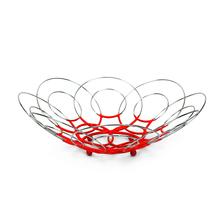 Flower Shape Metal Fruit Basket - @home by Nilkamal, Green