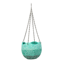 Hanging Wave 12cm Edge Planter - @home by Nilkamal, Sea Green
