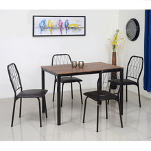 Danish 4 Seater Dining Set - @home by Nilkamal, Chocolate