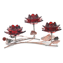 Table 3 Pieces Votive Stand- @home by Nilkamal, Maroon