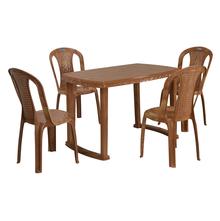 Nilkamal Shahenshah 4 Seater Dining Set, Pear Wood