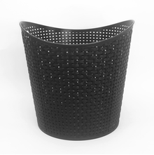Round Laundry Basket 39cm x 36cm - @home by Nilkamal, Black