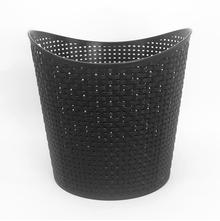 Round Laundry Basket 39cm x 36cm - @home by Nilkamal, Black