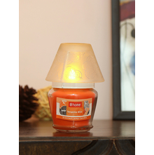 Tangerine Bliss Lamp Candle Set, Orange