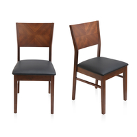 Godwin Dining Chair Set of 2 - @home by Nilkamal, Black Breve