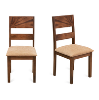 Rays Dining Chair Set of 2 - @home by Nilkamal, Natural