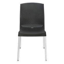 Nilkamal Novella 17 Stainless Steel Chair - Iron Black