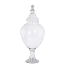 Urn Vase with Lid - @home by Nilkamal, Clear